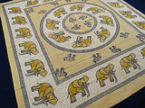 ROYAL INDIAN ELEPHANT TAPESTRY BED SHEET BED SPREAD WALLHANGING QUEEN YELLOW