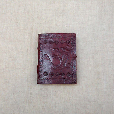 OM AUM INDIAN MEDIUM Leather Bound Handmade Paper Journal Diary Note Book