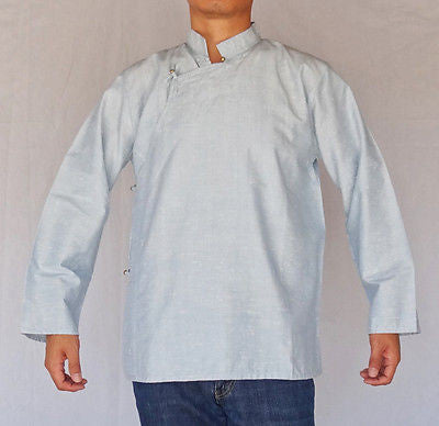 TRADITIONAL TIBETAN SHIRT COTTON SKY BLUE FOR MEN AND WOMEN - LIMITED EDITION