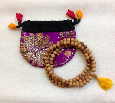 32 Inch Sandal Wood Tibetan Buddhist Prayer Rosary Mala 108 Beads from Nepal