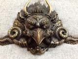 Garuda Mask Tibetan Buddhist Bronze Handcrafted from Nepal Very Detailed Medium