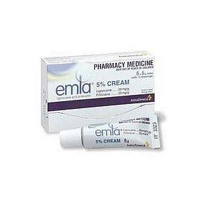 Emla Cream 5 x 5g Tubes plus 10 dressings