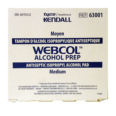 Webcol Alcohol Wipes - Limit 1 per order