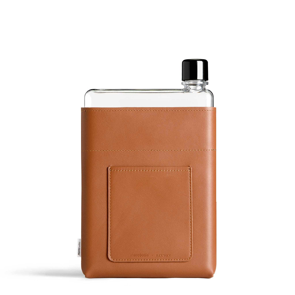 A5 Leather Sleeve + memobottle pack