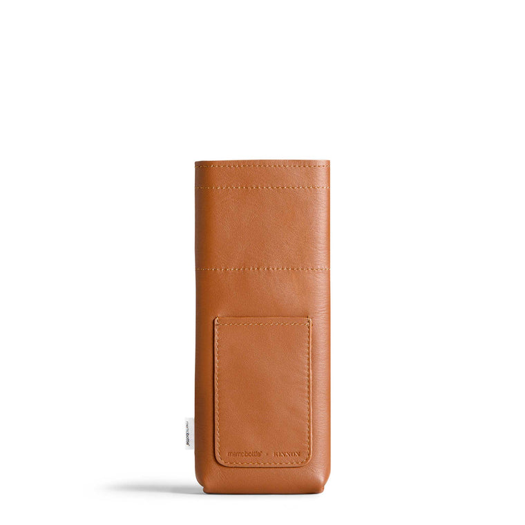 Slim Leather Sleeve - Tan