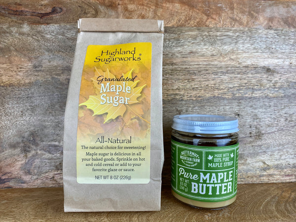 Highland Sugarworks Maple Sugar & Butternut Mountain Farm Maple Butter