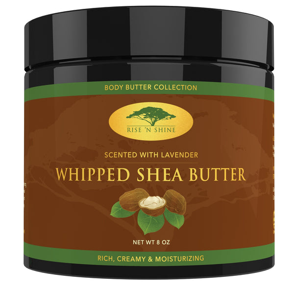 Cream - (8 Oz) Lavender Whipped African Shea Butter - Organic Moisture For Soft Skin