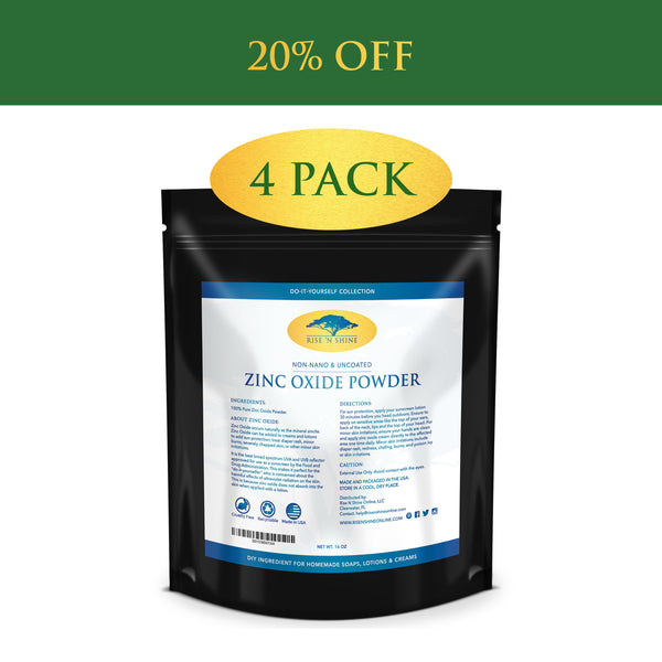 Do-It-Yourself Ingredients - (16 Oz) Zinc Oxide Powder - Non Nano, Uncoated, Pharmaceutical Grade