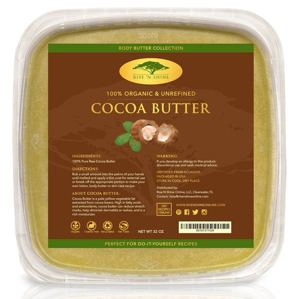 Do-It-Yourself Ingredients - 32 Oz Bulk Raw Cocoa Butter