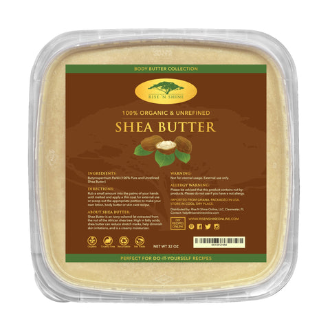 Do-It-Yourself Ingredients - 32 Oz Bulk Raw Shea Butter
