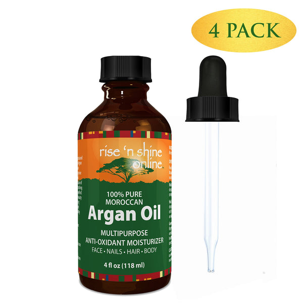 Do-It-Yourself Ingredients - (4 Oz) Pure Argan Oil For Skin - Best For Hair, Skin And Nails