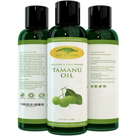 Do-It-Yourself Ingredients - (4 Oz) Pure Tamanu Oil - 100% Organic, Unrefined And Cold Pressed