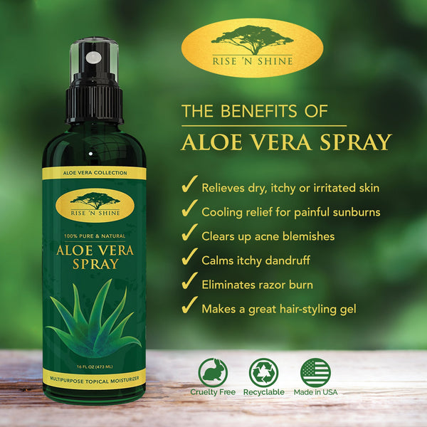 Facial Moisturizers - (16 Oz) Aloe Vera Spray For Face - Perfect Topical Moisturizer For Face And Hair