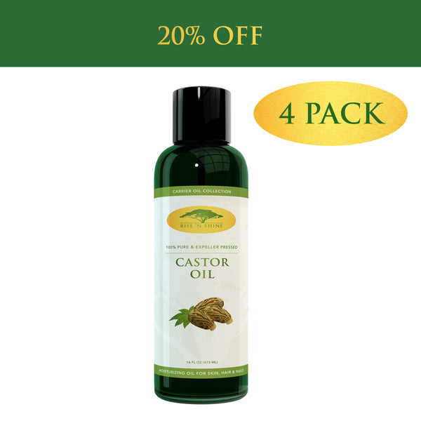 Facial Moisturizers - (16 Oz) Pure Castor Oil - 100% Expeller Pressed Castor Oil & Great Moisturizer