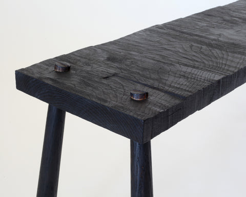 Duncan Oja: Old Growth - Furniture and Objects - Rough-Sawn Bench - Charred Oak