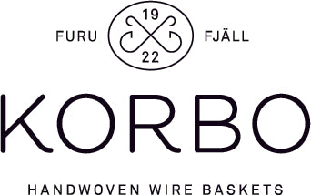Korbo Handwoven Wire Baskets - Since 1922 - Sweden