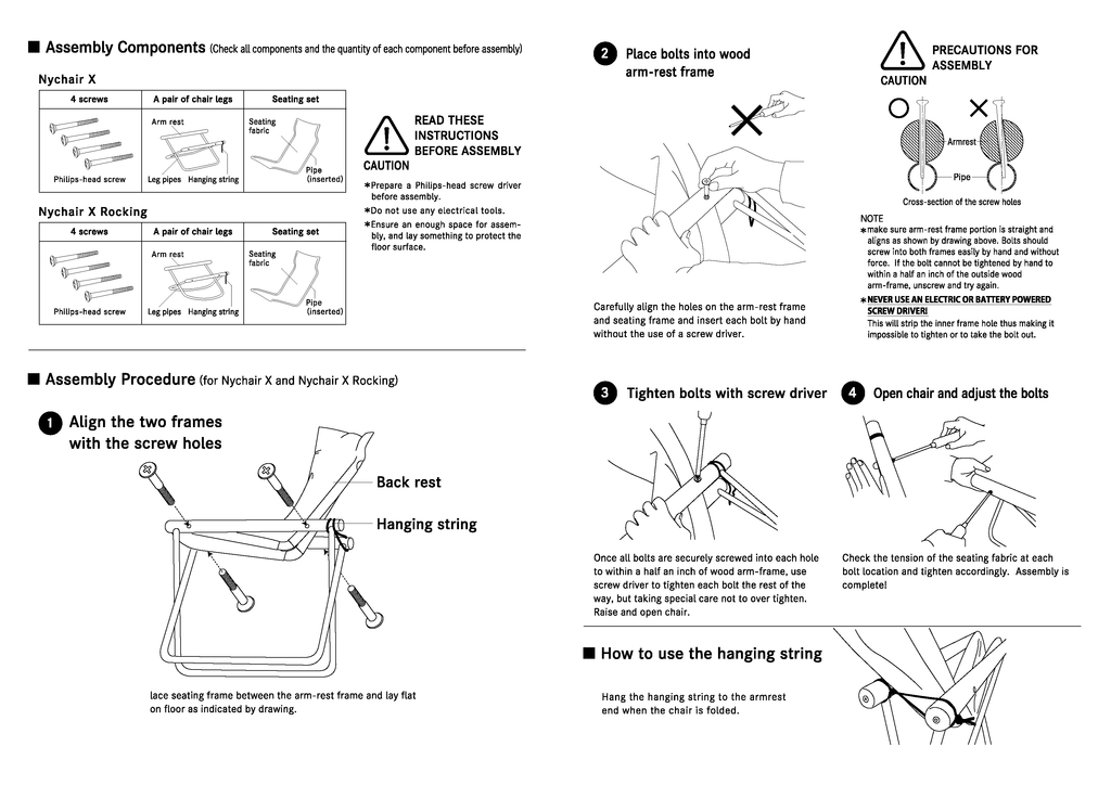 NyChairX Assembly and Instruction Manual - Page 2