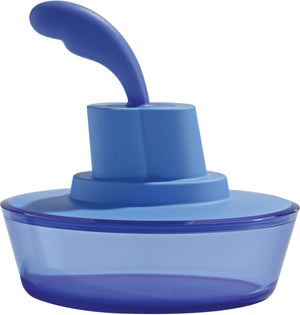 Alessi, Ship Shape container with small spatula / spreader - multiple colors, Blue- Placewares