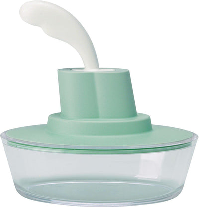 Alessi, Ship Shape container with small spatula / spreader - multiple colors, - Placewares
