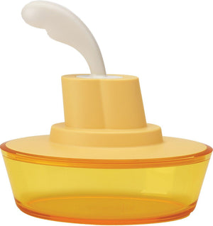 Alessi, Ship Shape container with small spatula / spreader - multiple colors, Yellow- Placewares