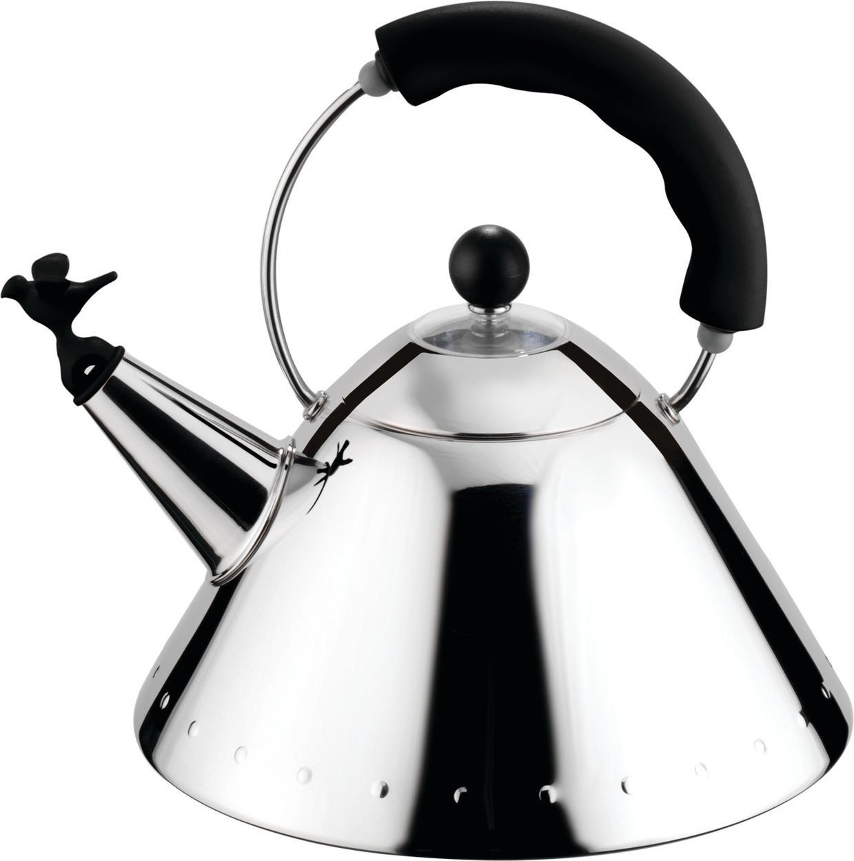Alessi, 9093 Kettle, Black- Placewares
