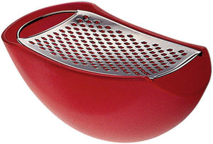Alessi, Parmenide cheese grater with cellar - Multiple colors, Red- Placewares