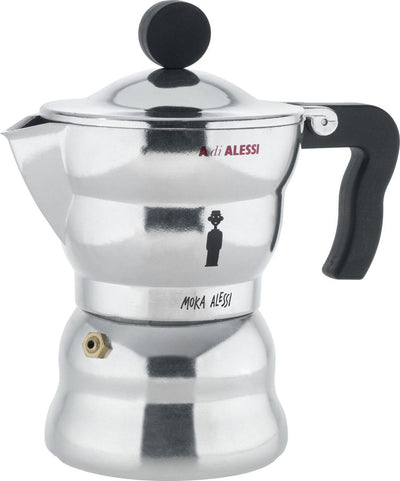 Alessi, Moka Alessi Espresso Coffee Maker - multiple sizes, 3 cup- Placewares