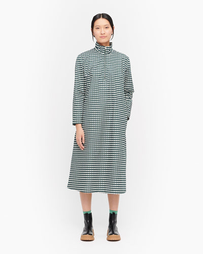 Marimekko, Hurmio Milliruutu Dress, Green/ Dark Green / 34- Placewares