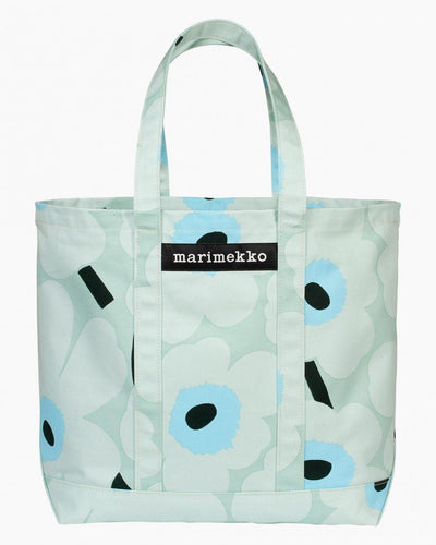 Marimekko, Peruskassi Pieni Unikko Bag, Light Turquoise/ Blue/ Green / One size- Placewares
