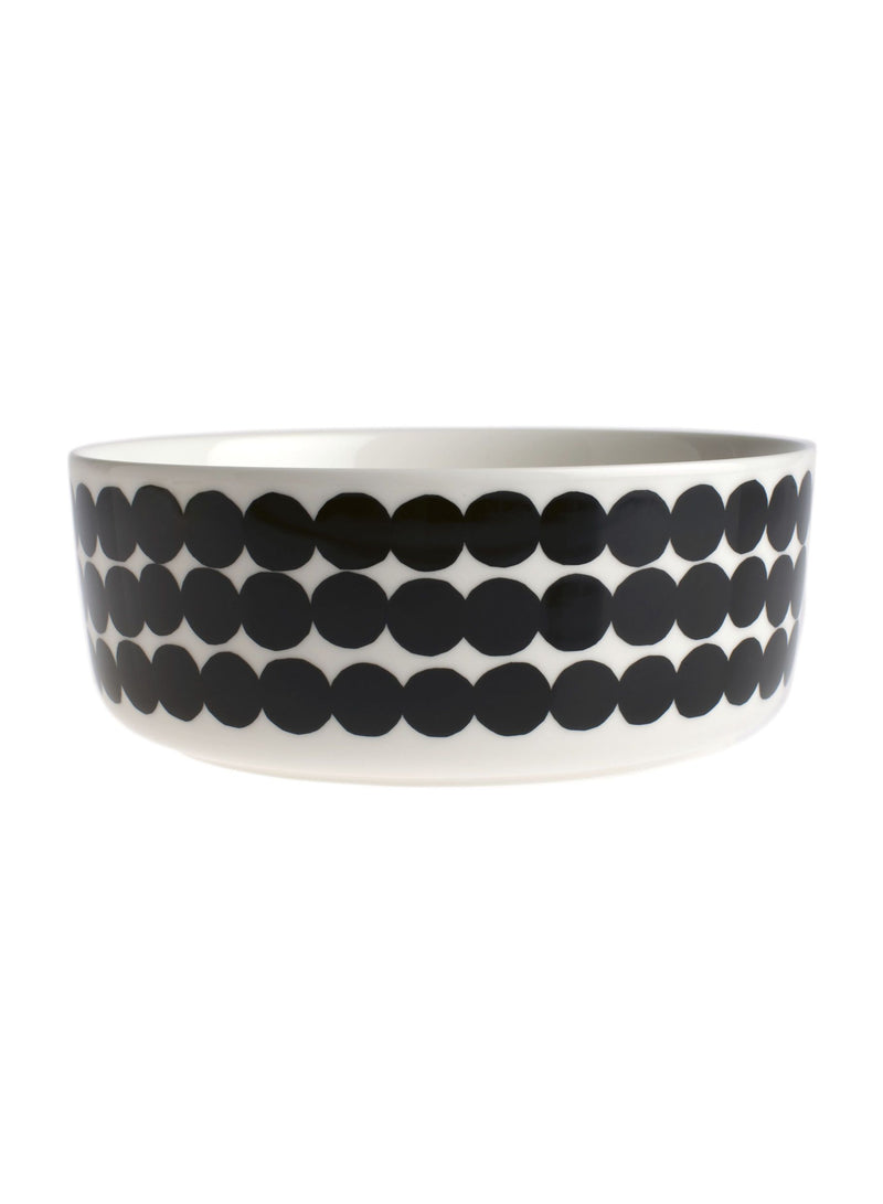 Marimekko, Räsymatto Large Bowl, White/Black- Placewares
