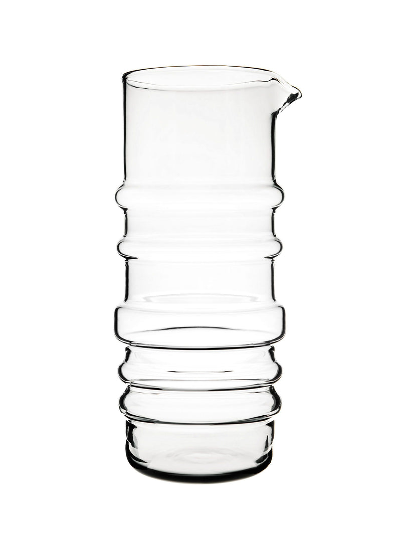 "Marimekko, Sukat Makkaralla ""Socks Rolled Down"" Glass Pitcher, Clear- Placewares"