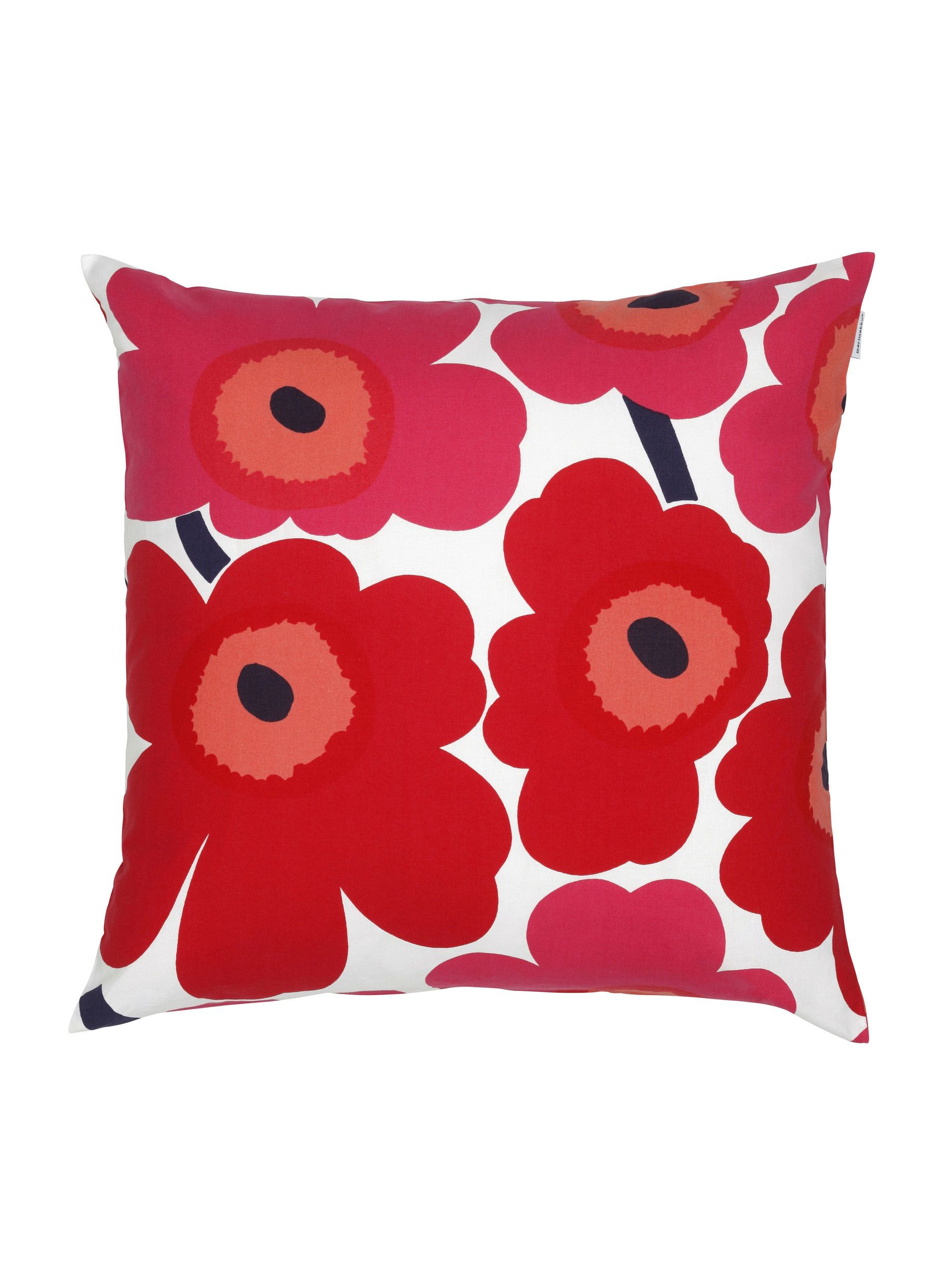 Marimekko, Pieni Unikko Cushion Cover, White/Red- Placewares