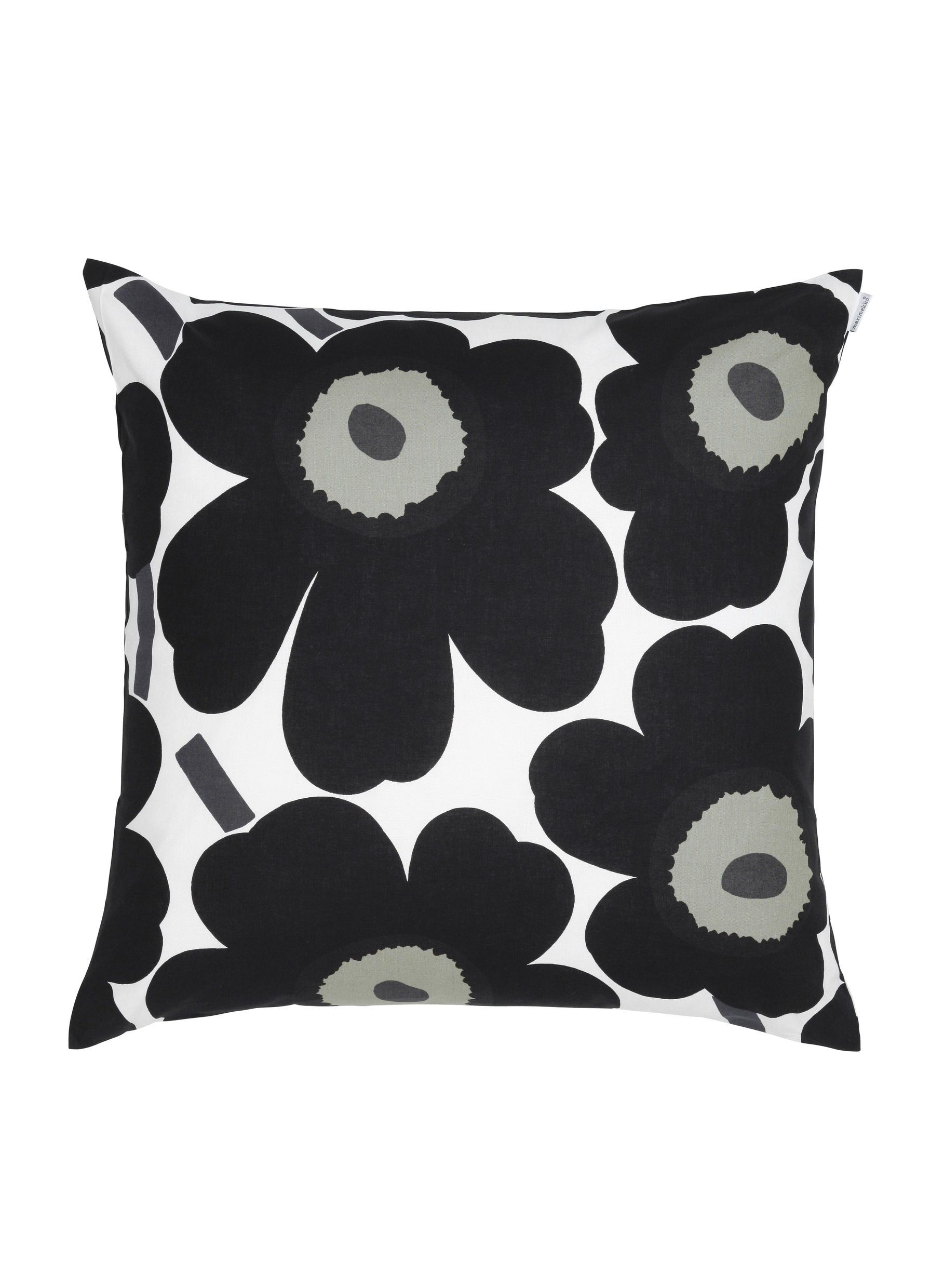 Marimekko, Pieni Unikko Cushion Cover, White/Black- Placewares