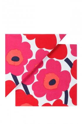 Marimekko, Marimekko - Unikko Red Lunch Napkins, - Placewares