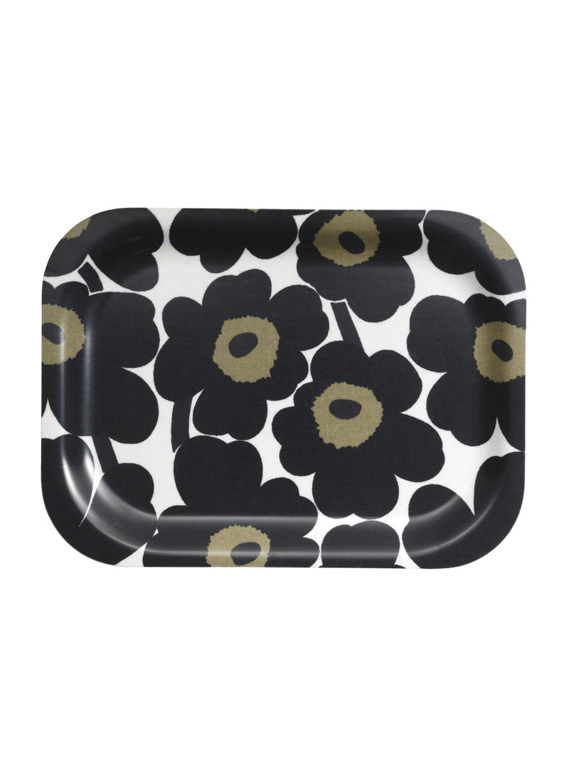 Marimekko, Mini Unikko Plywood Tray, White/Black- Placewares