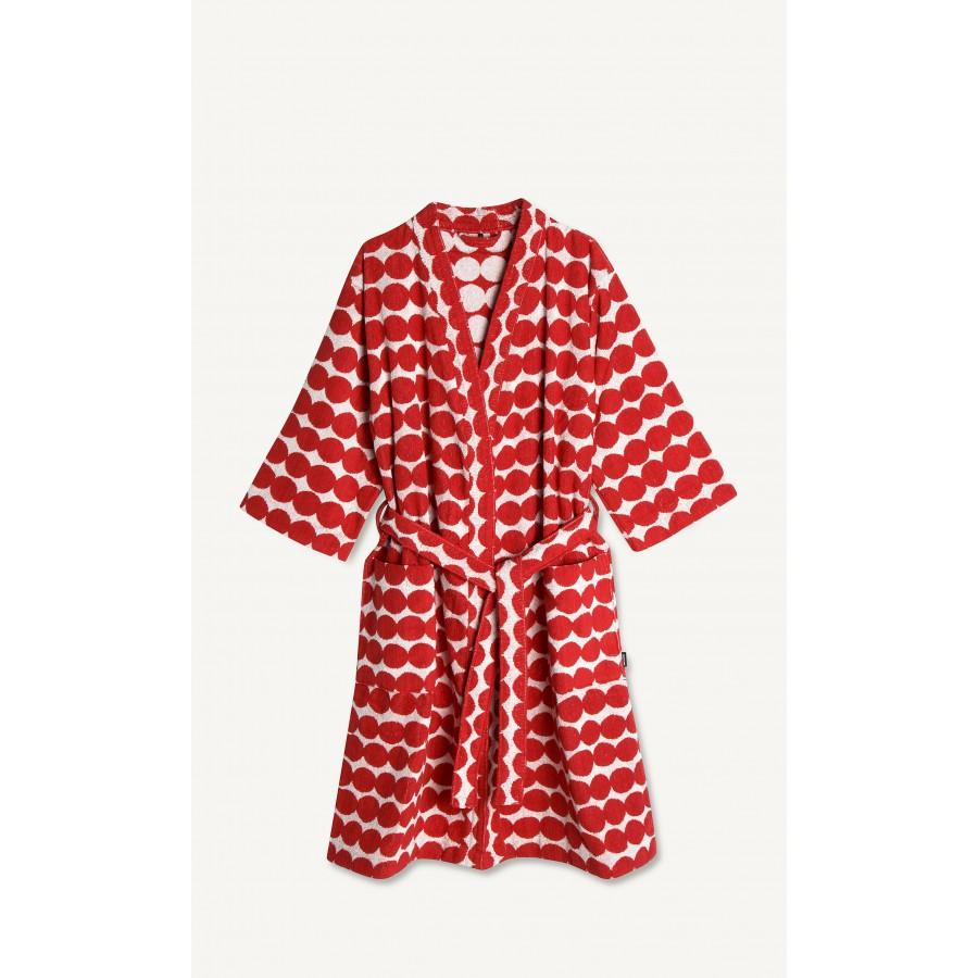 Marimekko, Rasymatto Bathrobe, Red & White, - Placewares