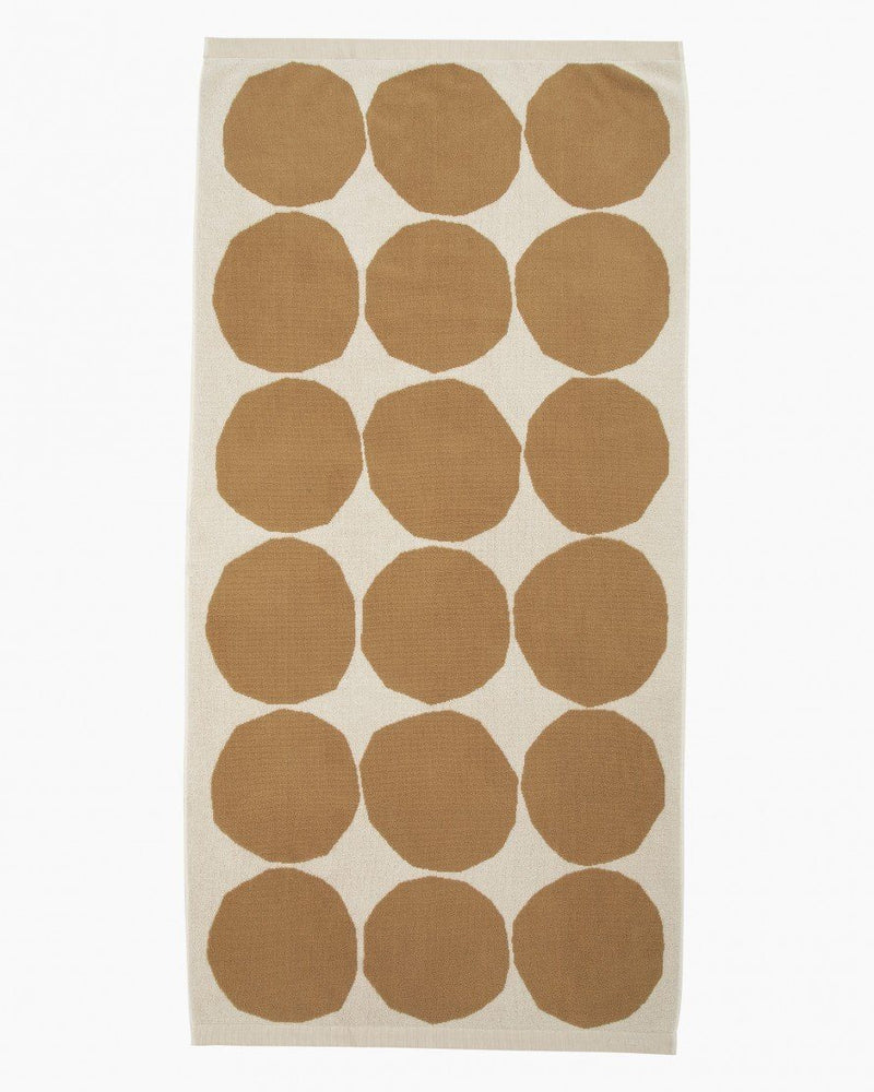 Marimekko, Kivet  Bath Towel, Cotton/ Beige / One size- Placewares