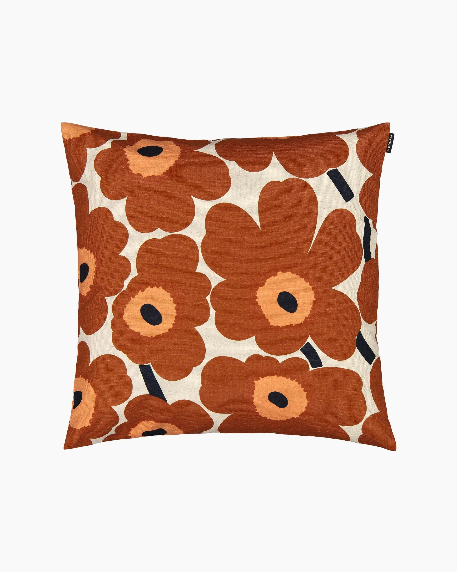 Marimekko, Pieni Unikko Cushion Cover, Cotton/ Chestnut / One size- Placewares