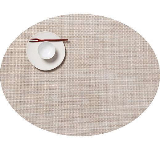 Mini Basketweave Placemat - oval, assorted colors