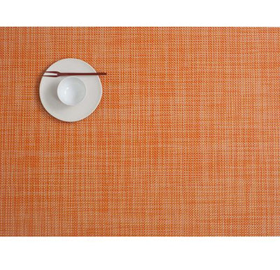 Chilewich, Mini Basketweave placemat, rectangle - multiple colors, Clementine- Placewares