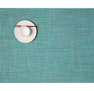 Chilewich, Mini Basketweave placemat, rectangle - multiple colors, Turquoise- Placewares