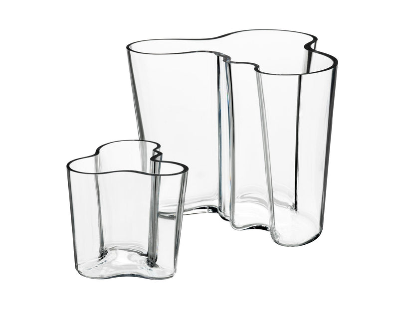 Iittala, Aalto Vase Set Set of 2, Clear- Placewares