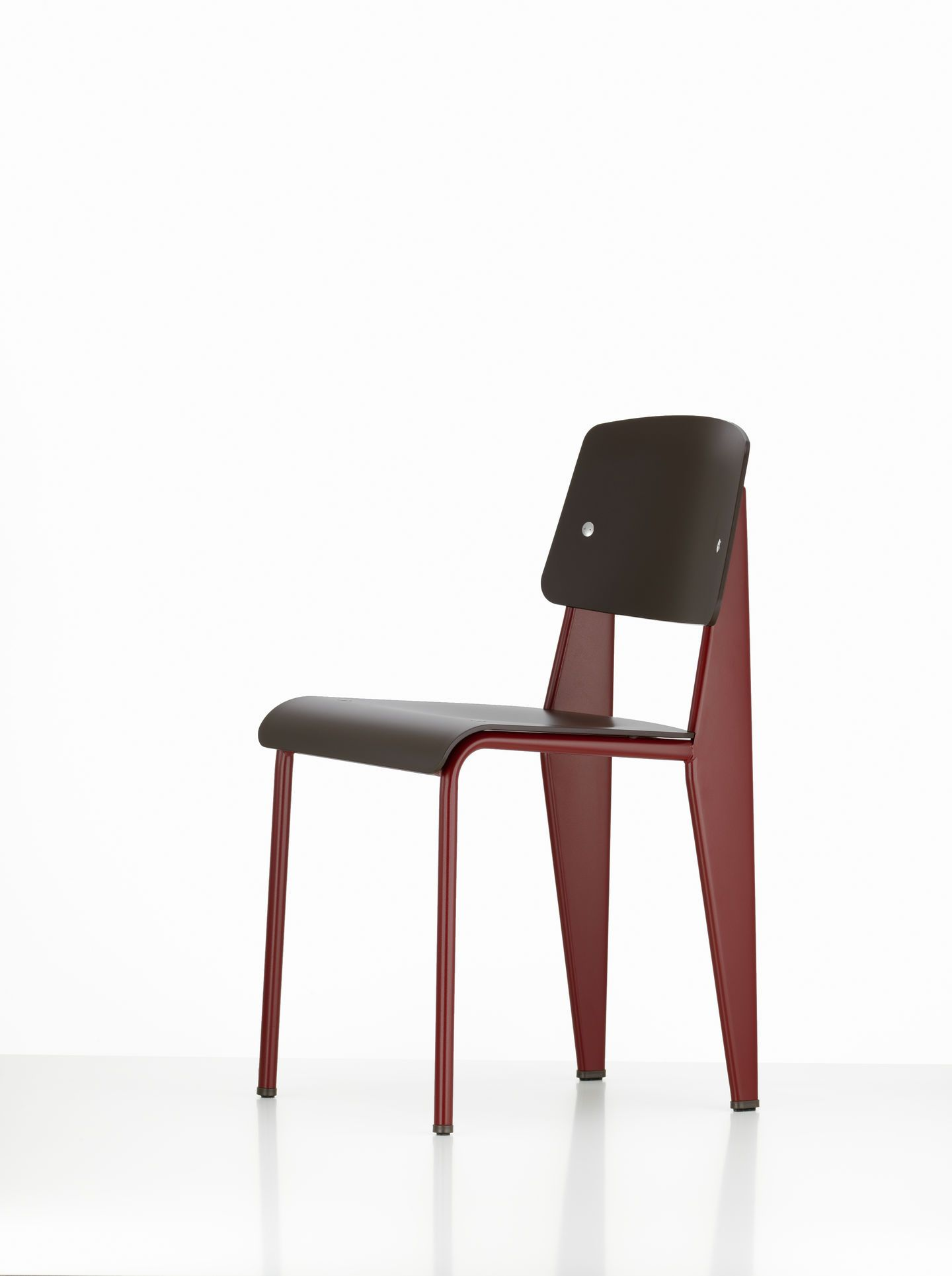 Vitra, Standard SP Chair, 06 Japanese red glides brown / 35 Basalt / Felt glides- Placewares