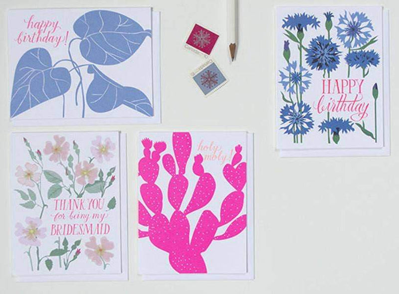 Banquet Workshop, Holy Moly! Neon Cacti Notecard, - Placewares