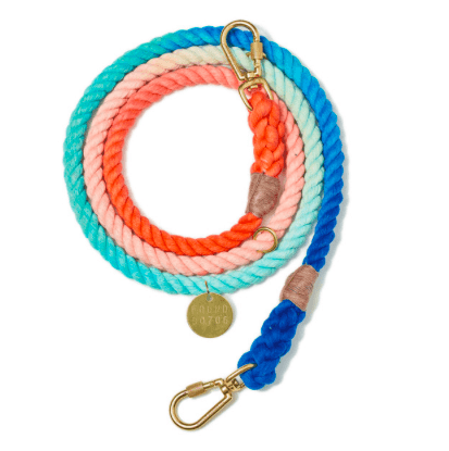 Found My Animal, Found My Animal - SWEET PEA OMBRE COTTON ROPE DOG LEASH, ADJUSTABLE, - Placewares