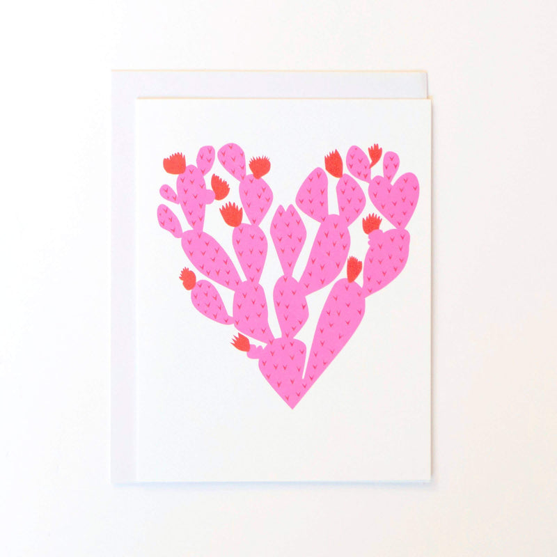 Banquet Workshop, Paddle Cactus Heart Notecard, Paddle Cactus Heart- Placewares