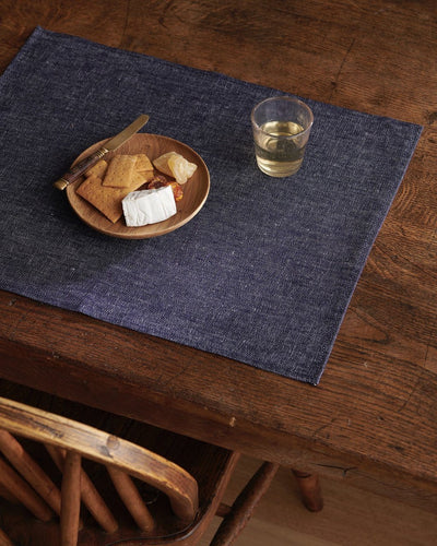 Fog Linen, Japanese Linen Denim Placemats, Navy Denim- Placewares