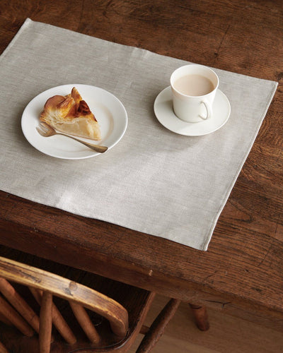 Fog Linen, Japanese Linen Denim Placemats, White Denim- Placewares