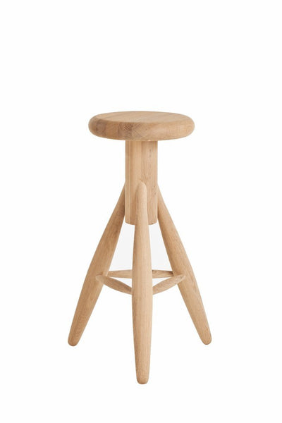 Artek, Rocket Bar Stool, Soaped, Soaped solid oak- Placewares