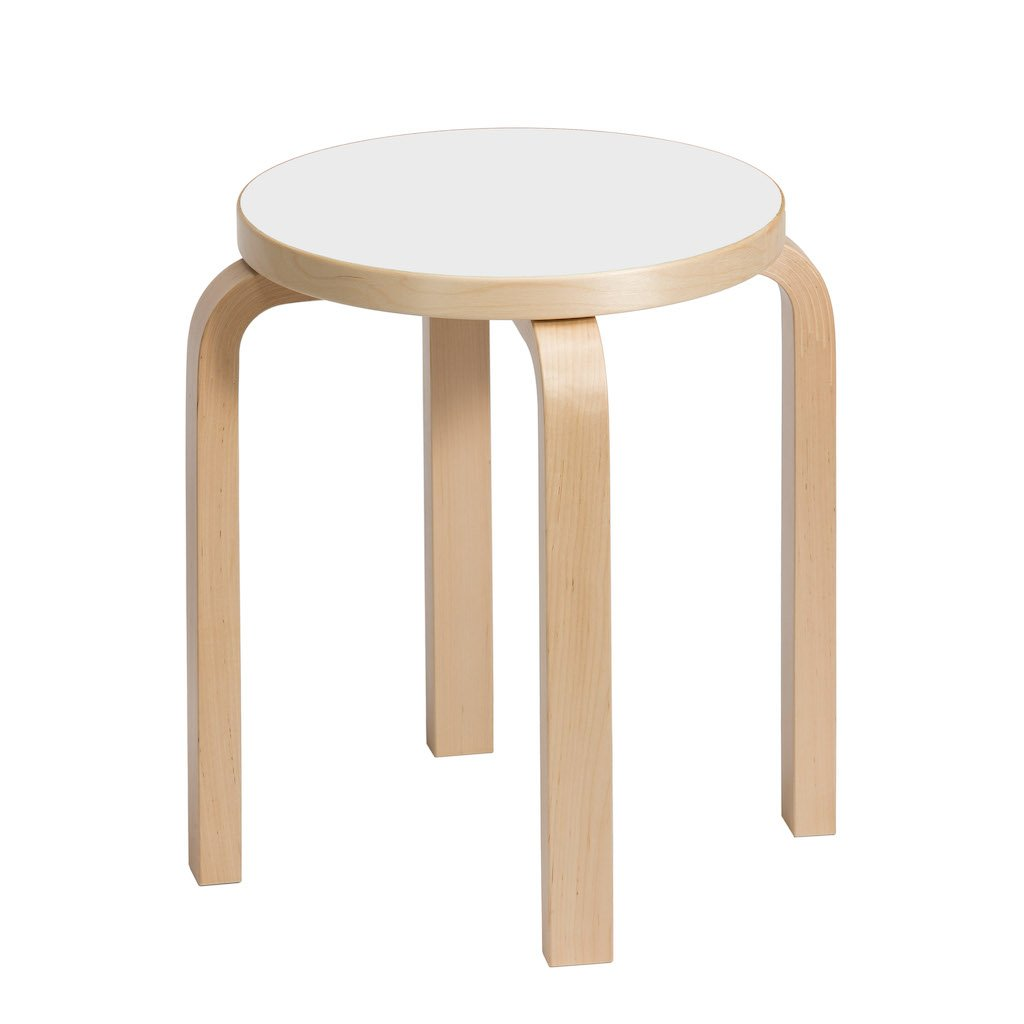 Artek, E60 Stool Laminate White Seat, - Placewares